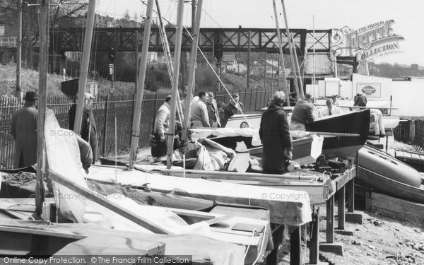 Photo of Leigh On Sea, The Yacht Station And Footbridge c.1965