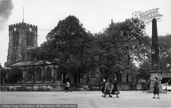 Photo of Leigh, Parish Church Of St Mary The Virgin c.1955