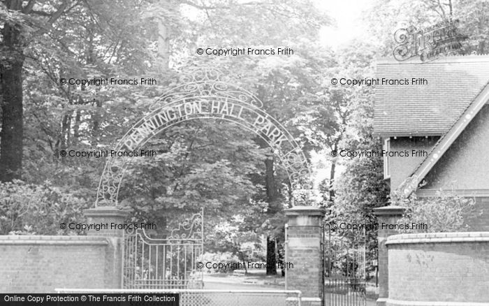 Photo of Leigh, Pennington Hall Entrance c.1955