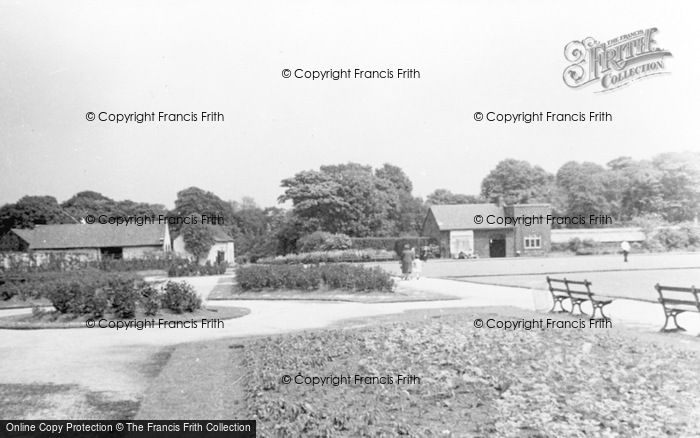 Photo of Leigh, Pennington Hall Flower Gardens And Bowling Green c.1955