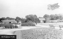 Leigh, Pennington Hall Flower Gardens And Bowling Green c.1955