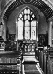 St Andrew's Church Interior c.1960, Leigh