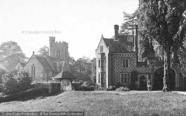 Photo of Leigh, The Church And East Lodge c.1955
