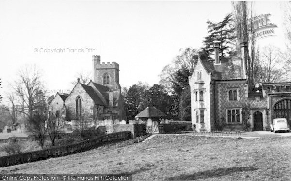 Photo of Leigh, The Church And East Lodge c.1960