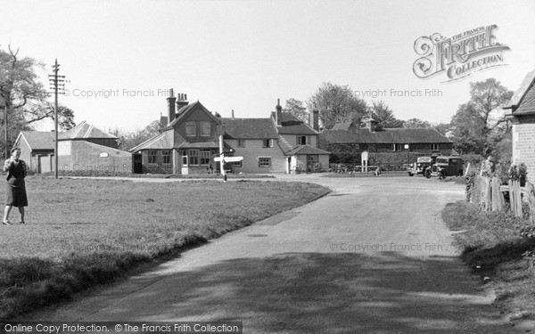 Photo of Leigh, The Cross Roads c.1955