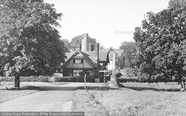 Photo of Leigh, The War Memorial And Church c.1955