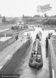 Narrow Boats In The Three Locks c.1955, Leighton Buzzard