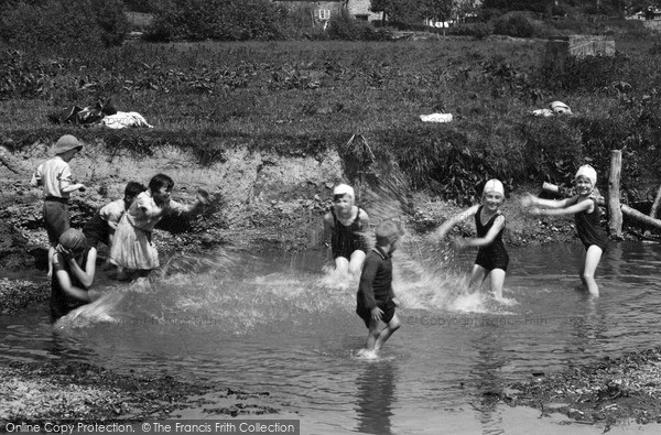 Photo of Leintwardine, Children At The Bathing Pool c.1955