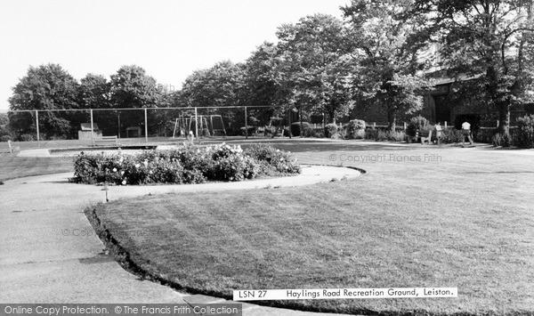 Photo of Leiston, Haylings Road Recreation Ground c.1960