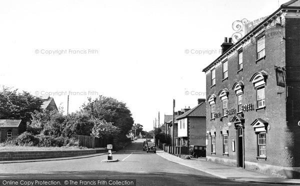 Photo of Leiston, Station Road c.1955