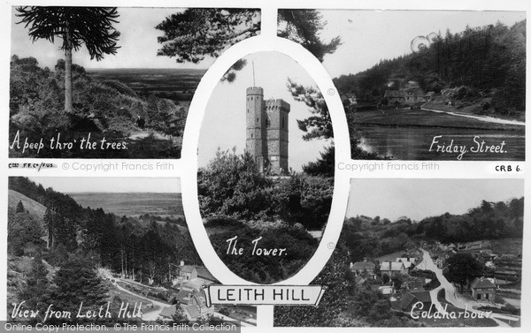Photo of Leith Hill, Composite c.1955