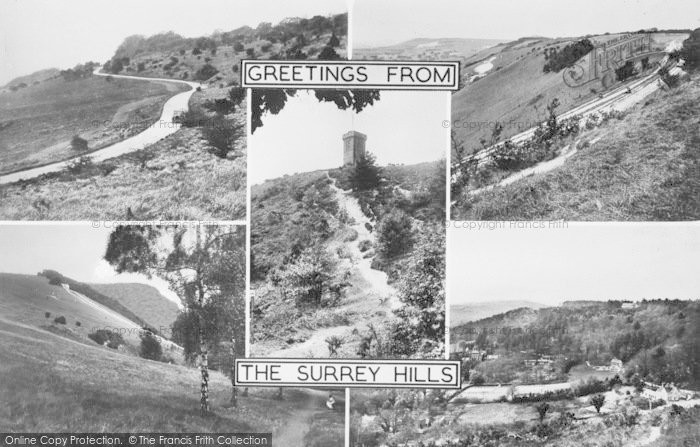 Photo of Leith Hill, Surrey Hills Composite c.1960