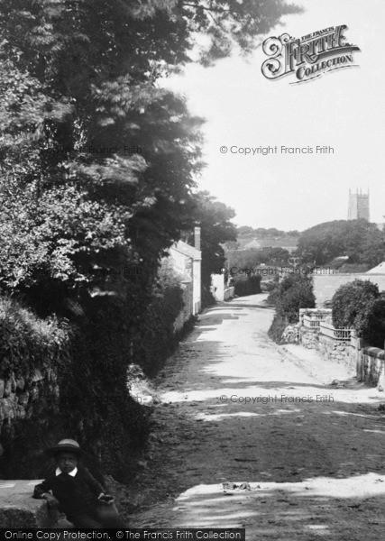 Photo of Lelant, A Boy In Church Lane 1892