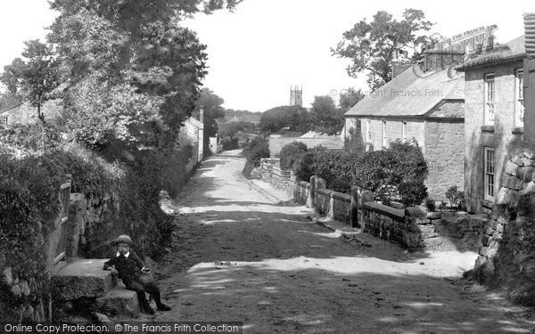 Photo of Lelant, Church Lane 1892