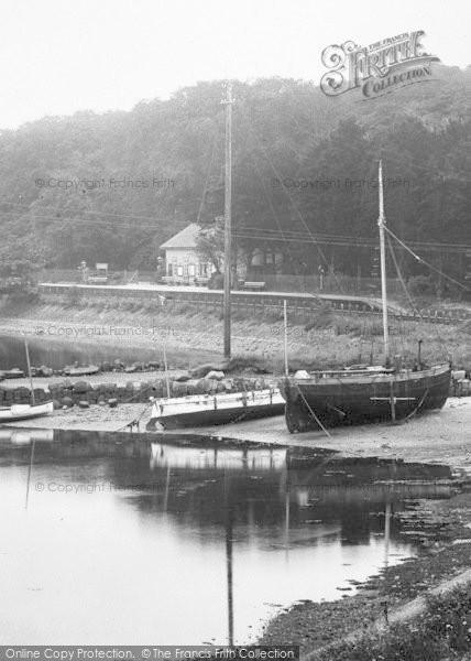 Photo of Lelant, Railway Station And Boats 1928