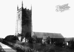 St Uny's Church 1892, Lelant