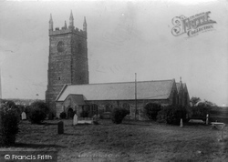 St Uny's Church 1901, Lelant