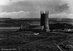 St Uny's Church 1928, Lelant