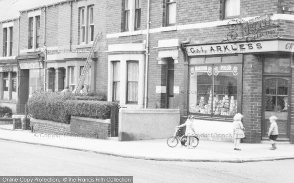 Photo of Lemington, Grocer In Tyne View c.1950
