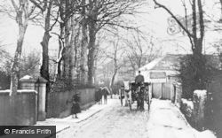 Lenzie, Garngaber Avenue In The Snow c.1897