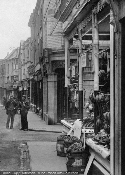 Photo of Leominster, A Greengrocer In High Street 1904