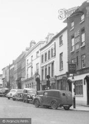 Leominster, Blue Boar Inn And Broad Street c.1955