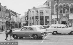 Leominster, Cars In Corn Square c.1965