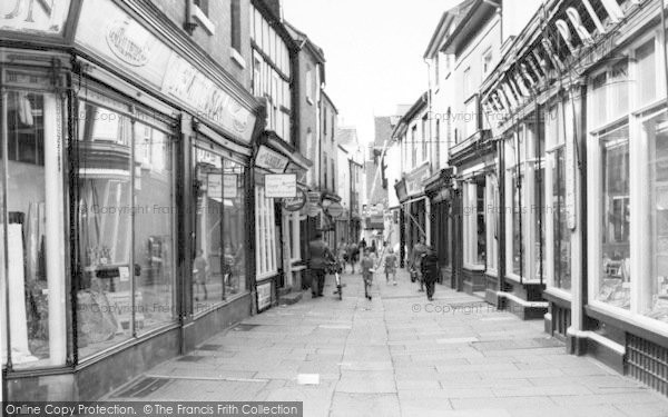 Photo of Leominster, Drapers Lane c.1965