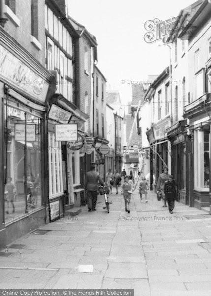 Photo of Leominster, Drapers Lane c.1965