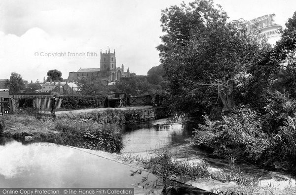 Leominster,from Mill Street 1904,Hereford and Worcester