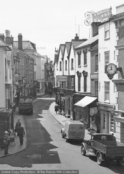 Photo of Leominster, High Street c.1955
