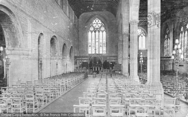 Photo of Leominster, Priory Church, Central Nave 1925