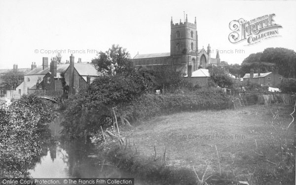 Photo of Leominster, Priory Church From Mill Meadow 1904