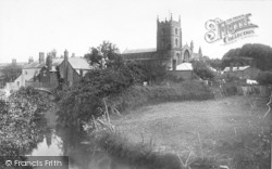 Leominster, Priory Church From Mill Meadow 1904
