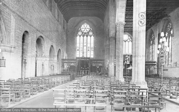 Photo of Leominster, Priory Church Interior 1924