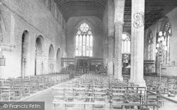 Leominster, Priory Church Interior 1924