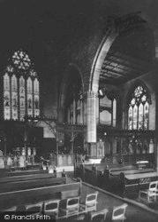 Leominster, Priory Church Interior 1925