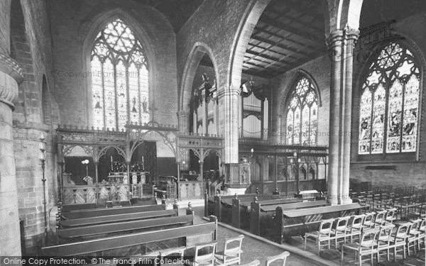 Photo of Leominster, Priory Church Interior, East End 1925