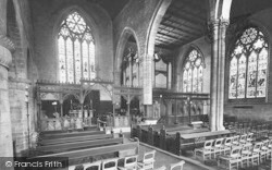 Leominster, Priory Church Interior, East End 1925
