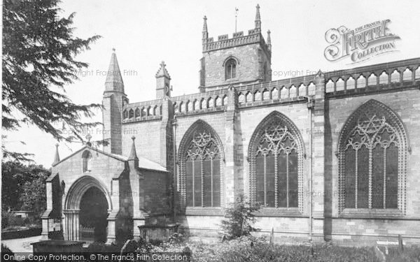 Photo of Leominster, Priory Church, South Side Showing Ball Flower Windows 1925