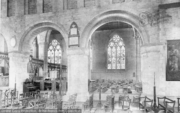 Photo of Leominster, Priory Church, View Across The Nave 1904
