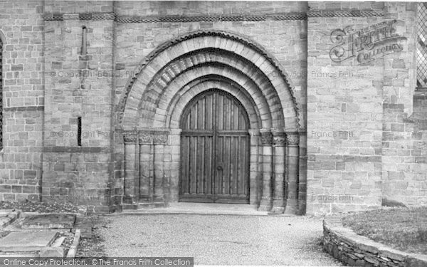 Photo of Leominster, Priory, Great West Doorway c.1960