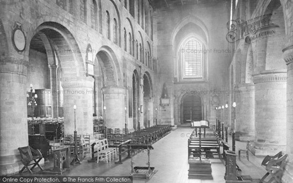 Photo of Leominster, The Priory Church Interior 1925