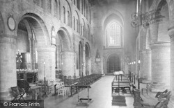 Leominster, The Priory Church Interior 1925