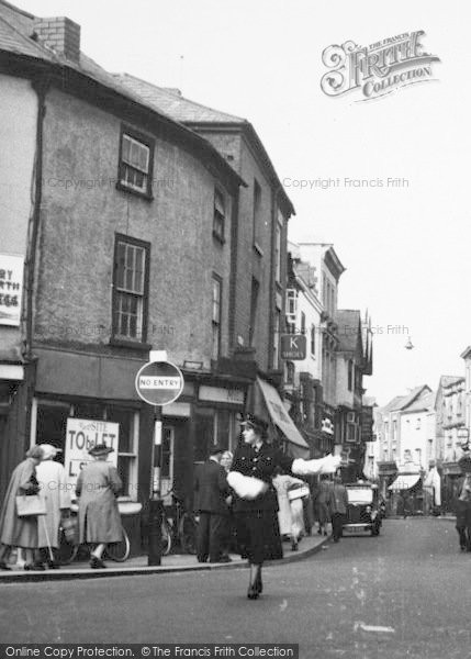 Photo of Leominster, Traffic Police Woman, High Street c.1960