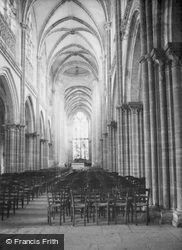 Church Of Notre-Dame Interior 1964, Les Andelys
