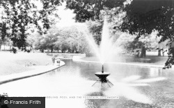 Letchworth, Children's Paddling Pool And The Fountain c.1965