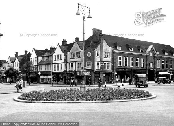 Photo of Letchworth, Eastcheap And Leys Avenue c.1950