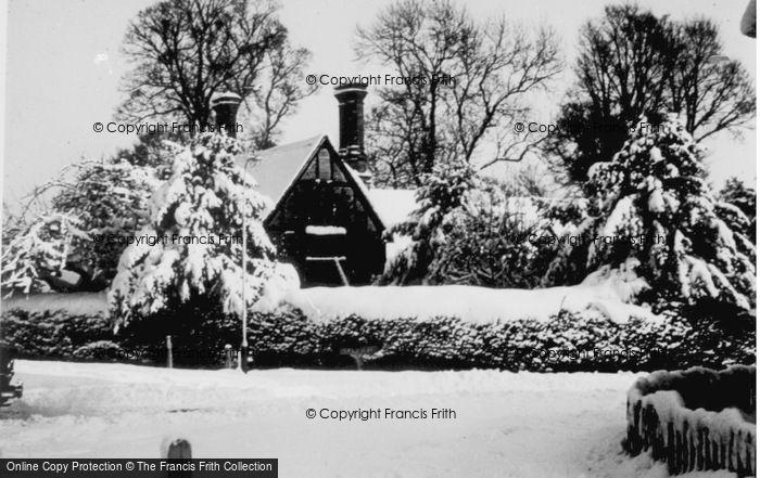 Photo of Letchworth, Snow Scene c.1955