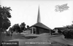 Letchworth, St George's Church c.1960, Letchworth Garden City